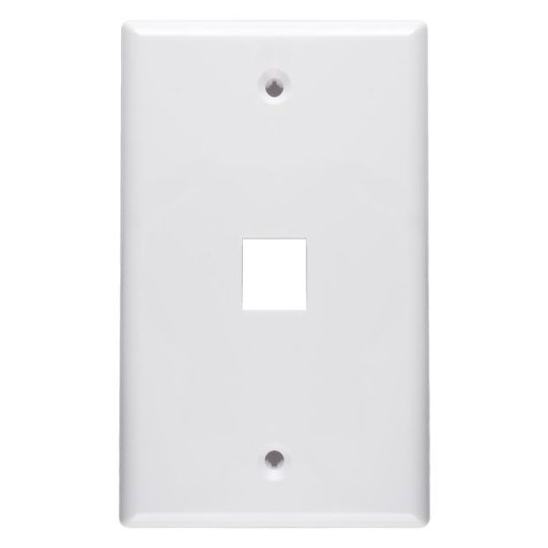Honeywell 1 Port Keystone QuickPort Flush Mount Wall Plate - White (AREC201W)