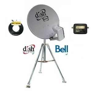 Dish 500 SD Camping Combo w/ 3' Tripod for Bell TV / Telus Satellite TV