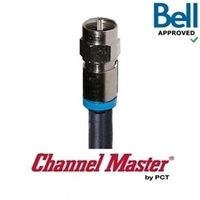 RG6 Channel Master Premium Coaxial Cable w/ Compression Connectors (4' / 1.2m)