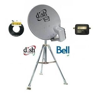 Dish 500 SD Camping Combo w/ 2' Tripod for Bell TV