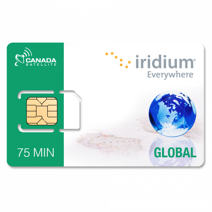 Iridium Satellite Phone Global Prepaid SIM Card - 75 Minutes (Valid 30 Days)