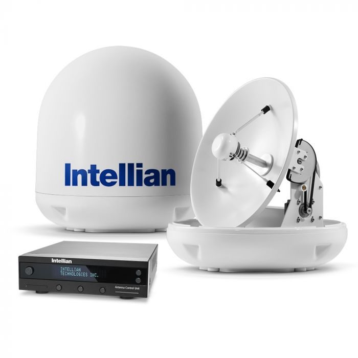 Intellian i4 US Marine Satellite TV System with 45cm (17.7 inch) Reflector & All-Americas LNB (B4-409AA)