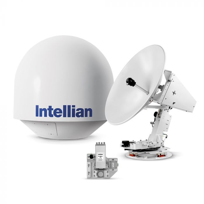 Intellian t80Q 3-axis Global System with 85cm (33.5 inch) Reflector & Universal Quad LNB