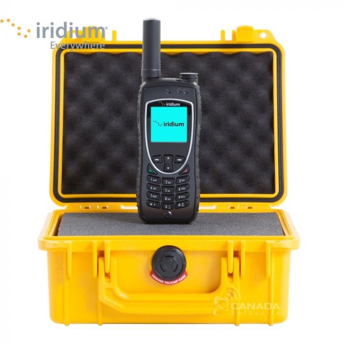 Iridium 9575 Extreme Satellite Phone + Pelican 1150 Case + Free Shipping!!! - Yellow