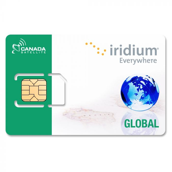 Iridium Satellite Phone Global Prepaid SIM Card - 150 Minutes (Valid 90 Days)