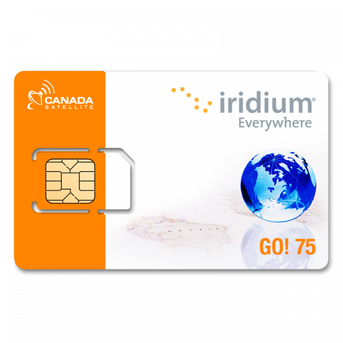 Iridium GO! 75 Data Minute Post Paid Monthly Plan (Month to Month)