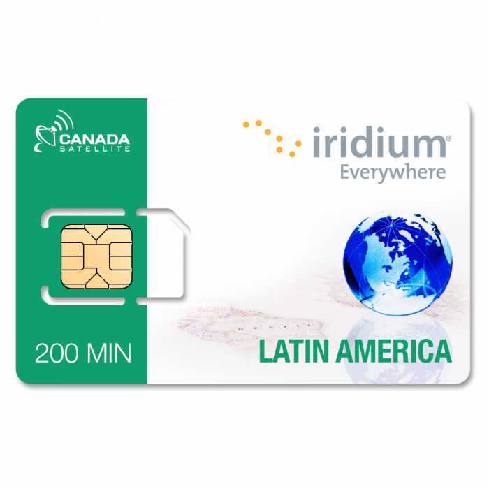 Iridium Latin America 200 Minute PrePaid Online Top Up