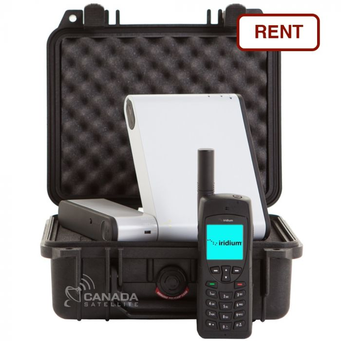 Inmarsat iSavi WiFi Satellite HotSpot + Iridium 9555 Satellite Phone Rental