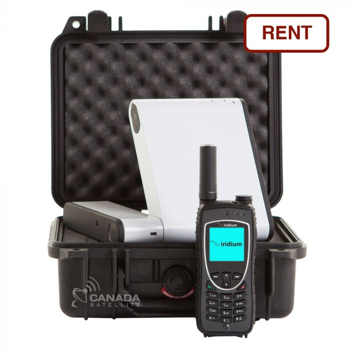 Inmarsat iSavi WiFi Satellite HotSpot + Iridium 9575 Satellite Phone Rental