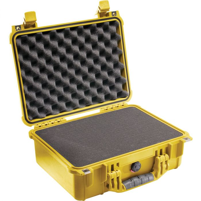Pelican 1450 Case w/ Pick 'n' Pluck Foam (Yellow)