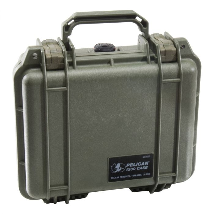 Pelican 1200 Case w/ Pick 'n' Pluck Foam (OD Green)