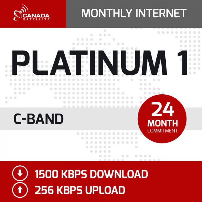 Platinum 1 C-Band Monthly Internet - 24 Month Commitment (1500 kbps Download / 256 kbps Upload)