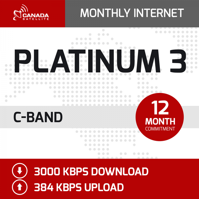 Platinum 3 C-Band Monthly Internet - 12 Month Commitment (3000 kbps Download / 384 kbps Upload)