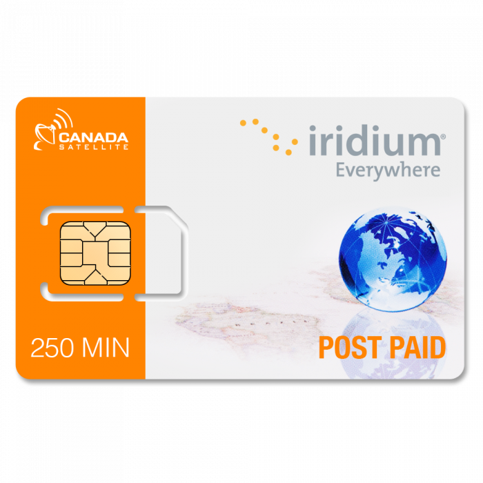 Iridium Standard Monthly Plan w/ 250 Minutes and Unlimited Free Text Messages