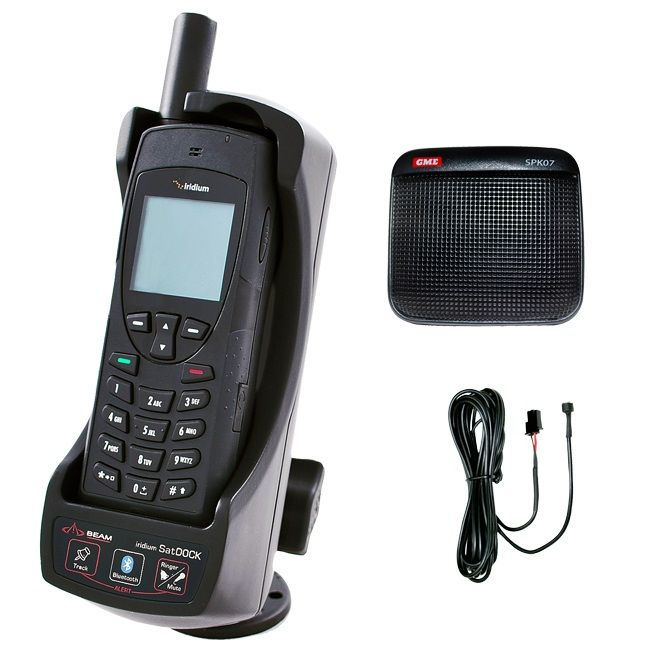 Iridium 9555 Satellite Phone + Beam SatDOCK Docking Station