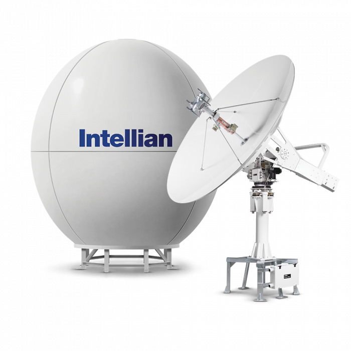 Intellian t240CK 3-axis, 2.4m C-band and Ku-band Marine Satellite TV Antenna System