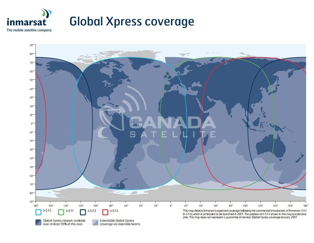 Inmarsat Global Xpress Coverage Map