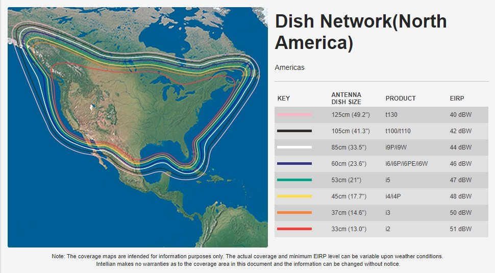 Intellian Dish Network Coverage Map