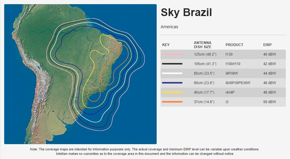 Intellian Sky Brazil Coverage Map